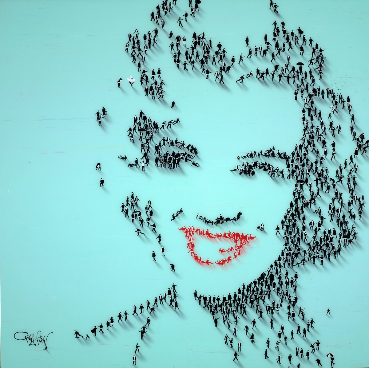 Mocambo Smile by craig alan -  sized 36x36 inches. Available from Whitewall Galleries